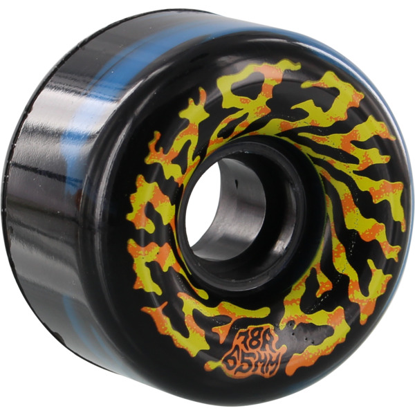 Santa Cruz Skateboards Slimeballs Swirly Black / Blue / W / Yellow / Orange Skateboard Wheels - 65mm 78a (Set of 4)