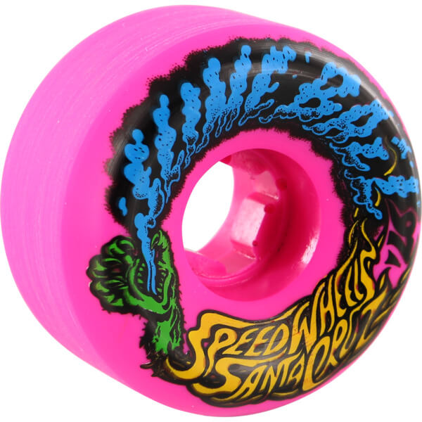 Santa Cruz Skateboards Slimeballs Vomits Mini Neon Pink Skateboard Wheels - 56mm 97a (Set of 4)