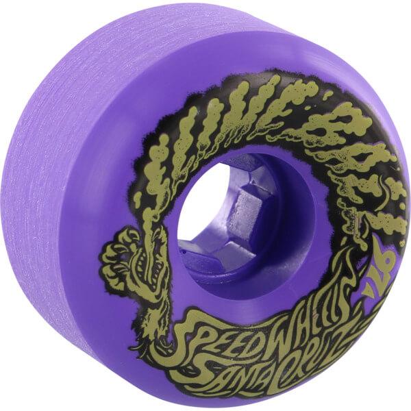 Santa Cruz Skateboards Slimeballs Vomits Mini Neon Purple Skateboard Wheels - 56mm 97a (Set of 4)