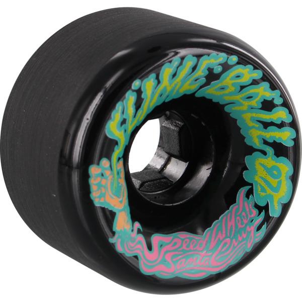 Santa Cruz Skateboards Vomits Slime Balls Black Skateboard Wheels - 60mm 97a (Set of 4)