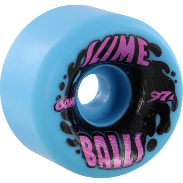 Santa Cruz Skateboards Vomits Splat Slimeballs Neon Blue Skateboard Wheels - 60mm 97a (Set of 4)