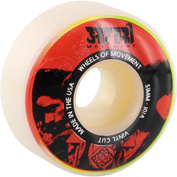 Satori Movement Vinyl White / Red Skateboard Wheels - 51mm 101a (Set of 4)