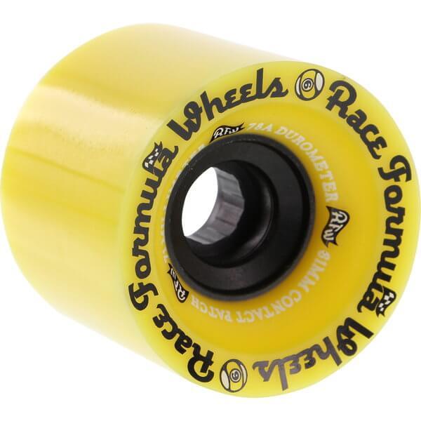 Sector 9 Offset Race Formula Yellow Longboard Skateboard Wheels - 71mm 78a (Set of 4)
