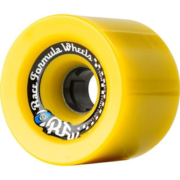 Sector 9 Offset Race Formula Yellow Skateboard Wheels - 74mm 78a (Set of 4)