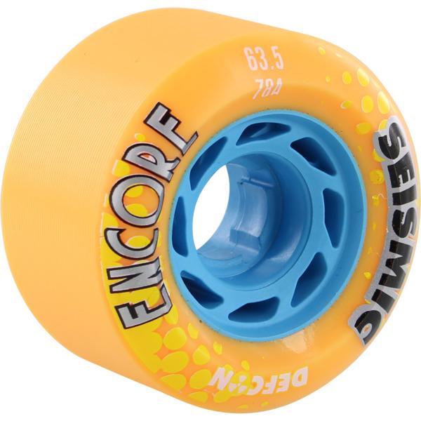 Seismic Skate Systems Encore Mango Defcon Skateboard Wheels - 63.5mm 78a (Set of 4)