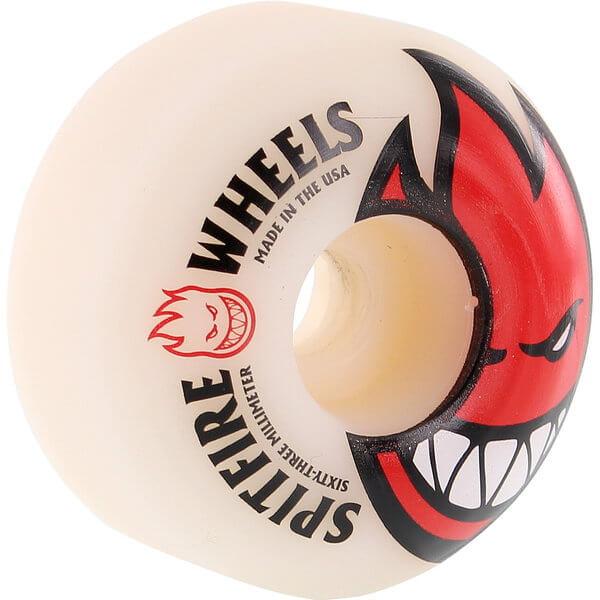 Spitfire Wheels Bighead Red / Black Skateboard Wheels - 63mm 99a (Set of 4)
