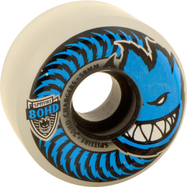 Spitfire Wheels 80HD Charger Conical Clear / Blue Skateboard Wheels - 58mm 80d (Set of 4)