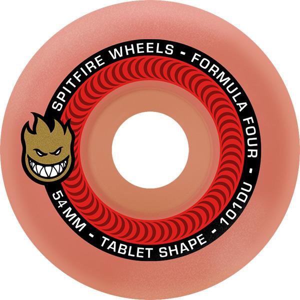 Spitfire Wheels Formula Four Tablet Aurora Red Skateboard Wheels - 54mm 101a (Set of 4)