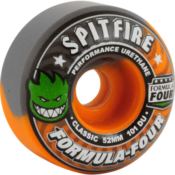 spitfire wheels formula four classic hazard swirl orange