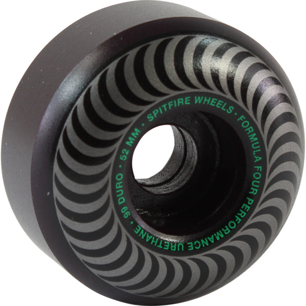 Spitfire Wheels Formula Four Classic Blackout Skateboard Wheels - 52mm 99a (Set of 4)