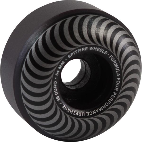 Spitfire Wheels Formula Four Classic Blackout Skateboard Wheels - 54mm 99a (Set of 4)