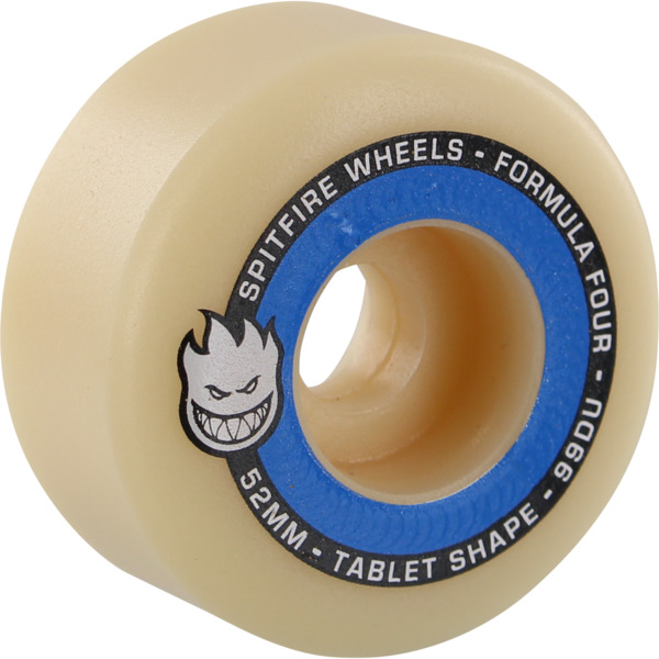 Spitfire Wheels Formula Four Tablets Natural / Blue Skateboard Wheels - 52mm 99a (Set of 4)
