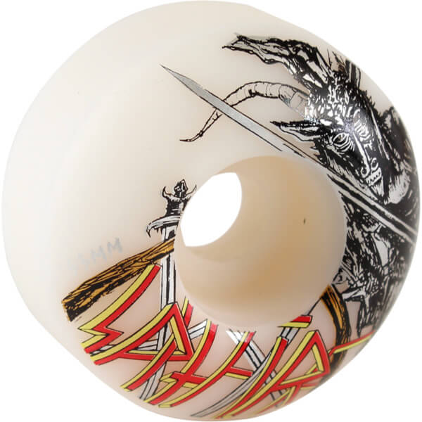 Spitfire Wheels No Mercy Classic White Skateboard Wheels - 53mm 99a (Set of 4)