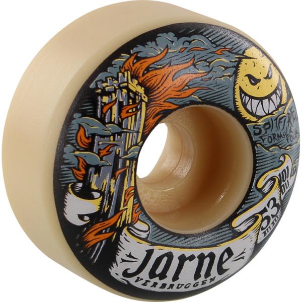 Spitfire Wheels Jarne Verbruggen Formula Four Moonshine White Skateboard Wheels - 53mm 101a (Set of 4)
