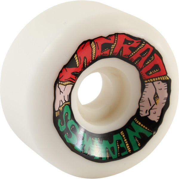Speedlab Wheels Mcrad Weakness White Skateboard Wheels - 60mm 101a (Set of 4)