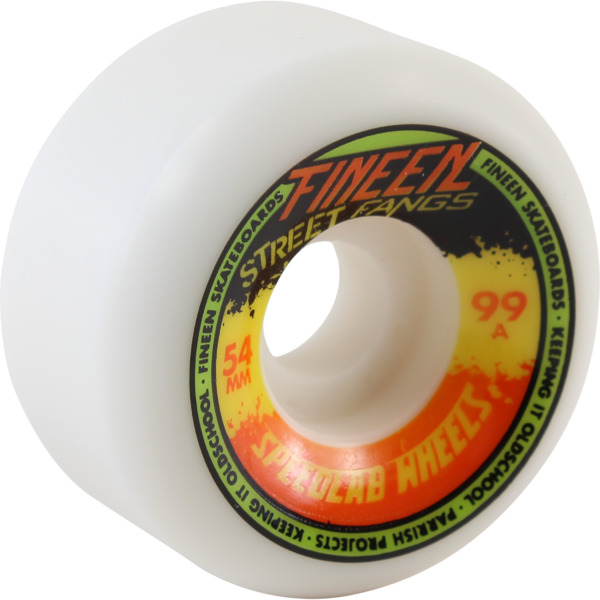 Speedlab Wheels Street Fangs White Skateboard Wheels - 54mm 99a (Set of 4)