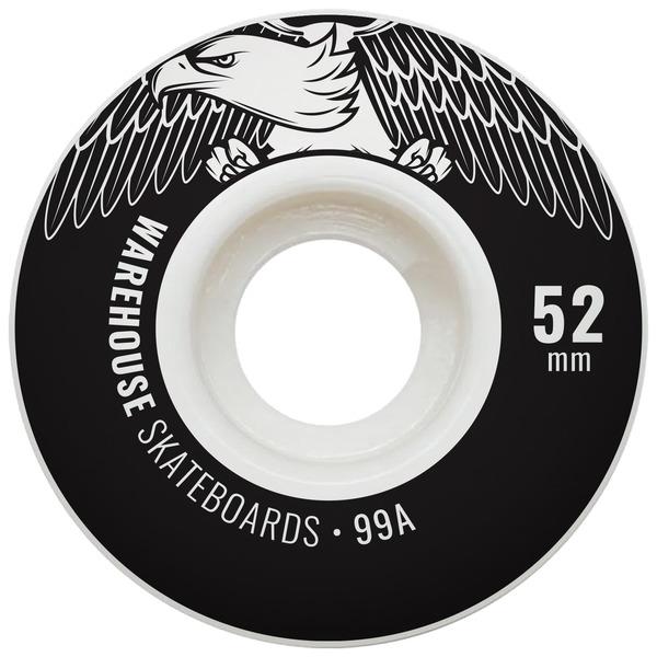 Warehouse Street Eagles Black Skateboard Wheels - 52mm 99a (Set of 4)