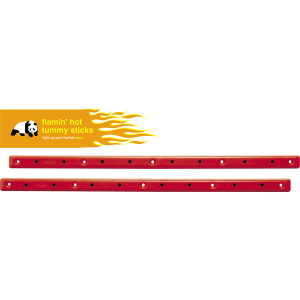 Enjoi Skateboards Tummy Sticks Flaming Hot Red Skateboard Board Rails