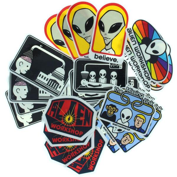 Alien Workshop Assorted Decals Assorted Colors 24 Pack