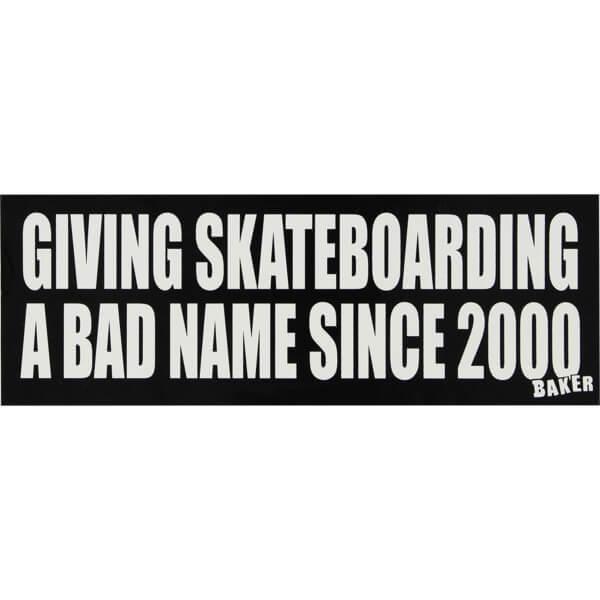 Baker Skateboards Bad Name Bumper Sticker