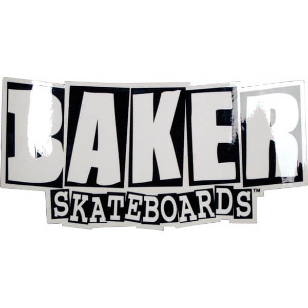 Baker Skateboards Brand Logo Assorted Colors Skate Sticker