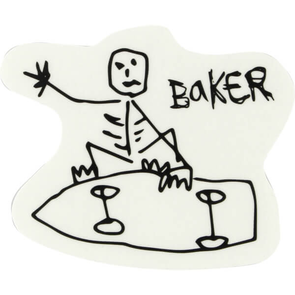 Baker Skateboards From The Grave Decal