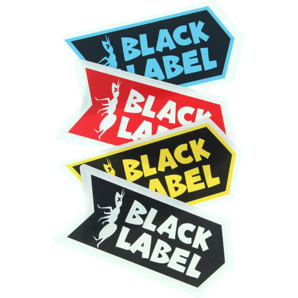 Black Label Skateboards Anti Logo Assorted Colors Skate Sticker