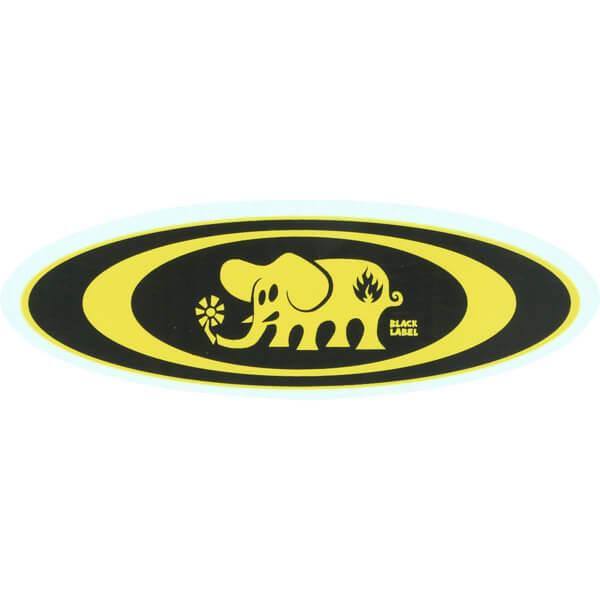 Black Label Skateboards Oval Elephant Assorted Colors Skate Sticker