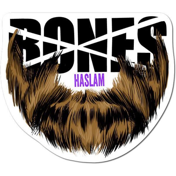 Bones Wheels Haslam Beard Sticker