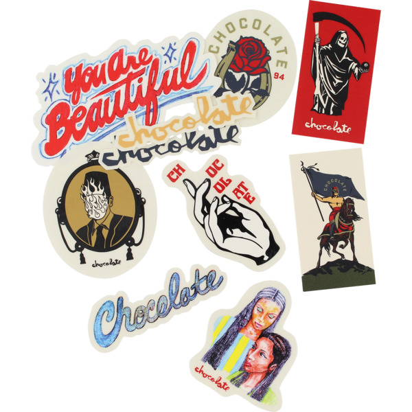 Chocolate Skateboards One Off 10 Pack Assorted Decals Skate Sticker