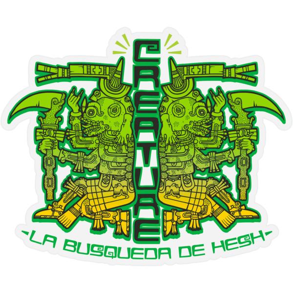 "Creature Skateboards 3.25"" x 4"" Busqueda De Hesh Black / Green / Yellow Skate Sticker"