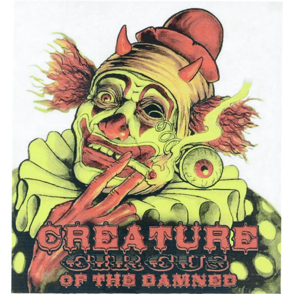 Creature skateboards circus of the damned skate sticker
