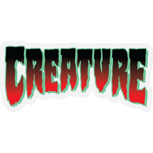 "Creature Skateboards 1.9"" X 4.06"" Logo Horror Mylar Red Skate Sticker"