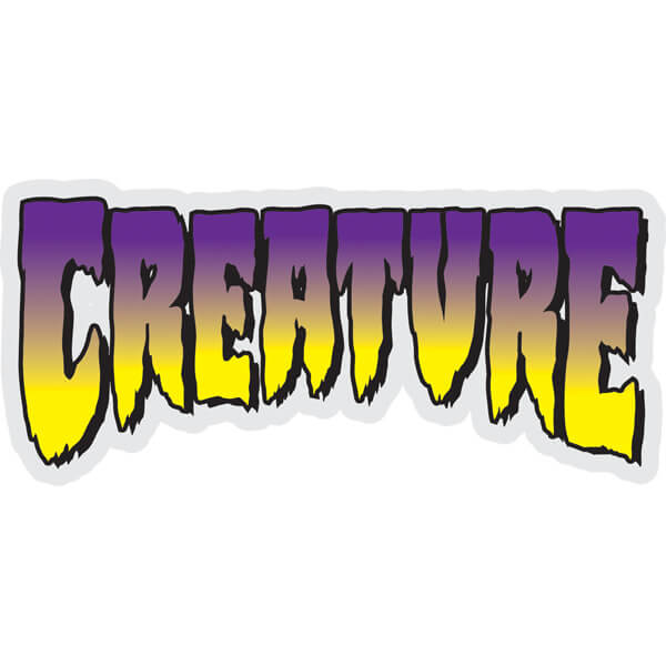 "Creature Skateboards Logo Clear Purple Skate Sticker - 5"" x 2.25"""