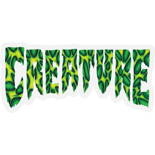"Creature Skateboards 2"" x 4.25"" Strains Black / Green / Yellow Skate Sticker"