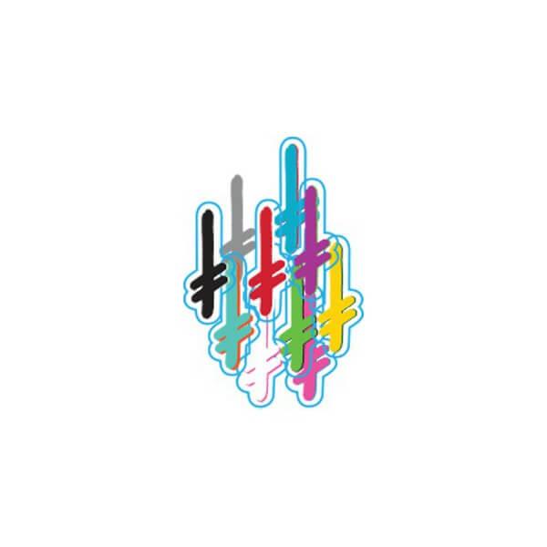 """Deathwish Skateboards Gang Logo II Assorted Colors Skate Sticker - 5.5"""""""