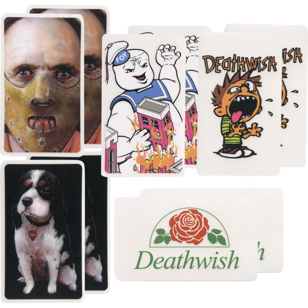 Deathwish Skateboards 10 Pack of Assorted One Offs Skate Sticker