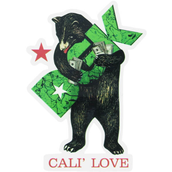 DGK Skateboards Cali Love Bear Skate Sticker