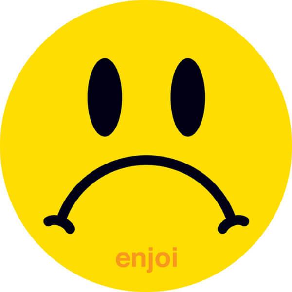 Enjoi Skateboards Sad Face Skate Sticker