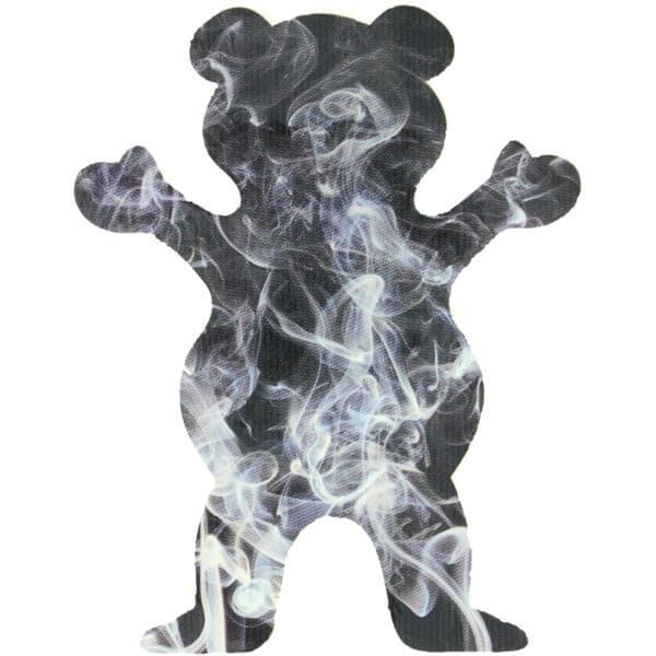 grizzly grip tape smoke fill bear skate sticker - warehouse