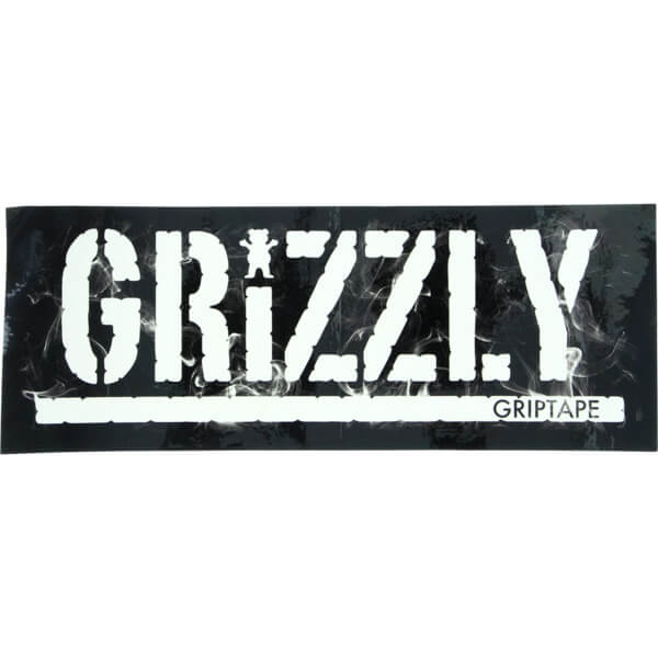 Grizzly Grip Tape Hot Box Stamp Skate Sticker - Warehouse Skateboards