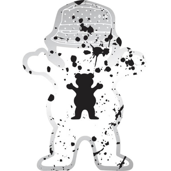 Grizzly Grip Tape Johnson Splatter Bear Skate Sticker