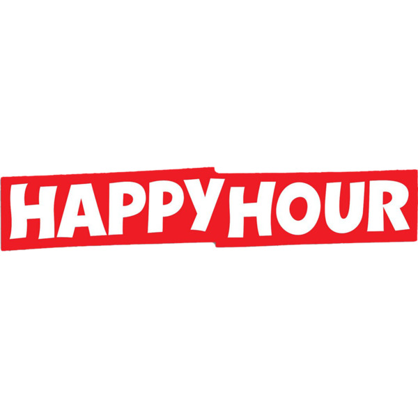 Happy Hour Skateboards Bar Logo Large Skate Sticker