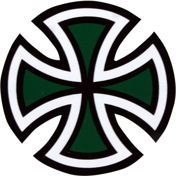 Independent Cut Cross Sticker