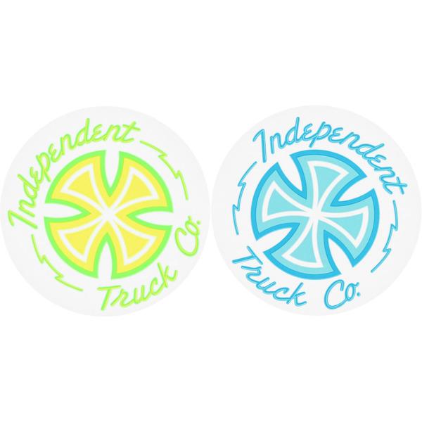 """Independent 4"""" x 4"""" Neon Mylar Skate Sticker"""