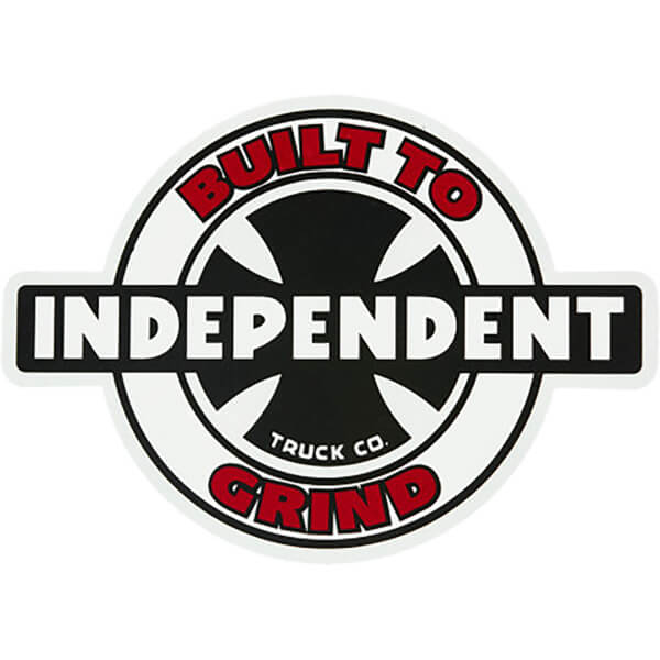 "Independent 95 Built to Grind Ring Skate Sticker - 4"" x 5.5"""