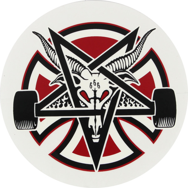 "Independent 5"" Pentagram Cross Skate Sticker"
