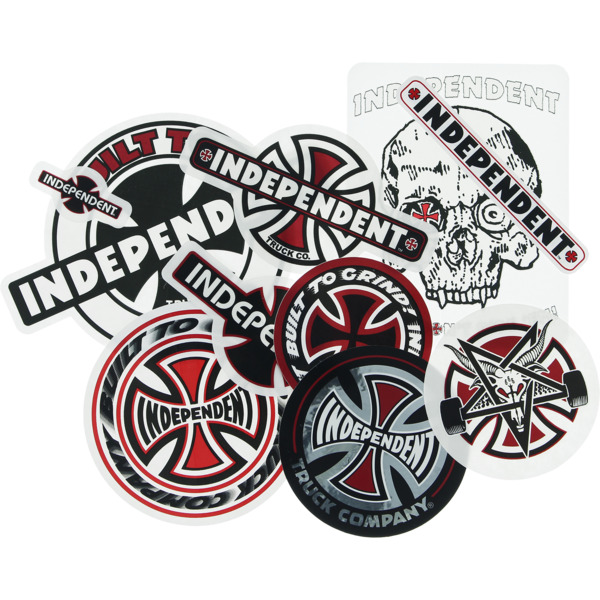 Independent 10 Pack 2019 Assorted Skate Stickers
