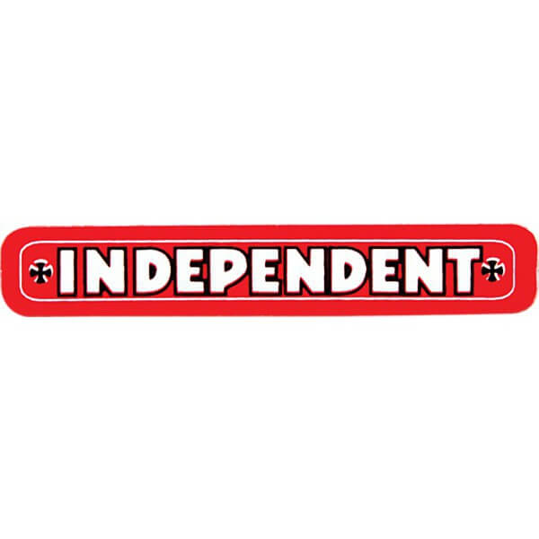 "Independent Bar 1/5"" X 4"" Skate Sticker"