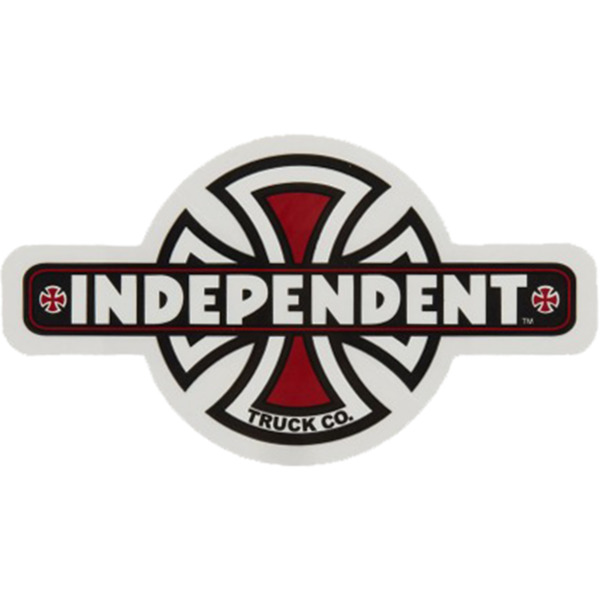 "Independent Vintage Cross 2.37"" X 4.25"" Skate Sticker"